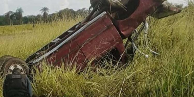 Veículo capotou em rodovia e matou idoso - Crédito: Ponta Porã News