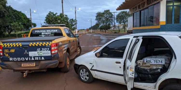 Veículo estava abandonado - Crédito: Divulgação PMR