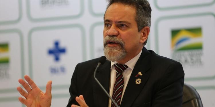 Élcio Franco, durante coletiva do Ministério da Saúde Foto: Fabio Rodrigues Pozzebom