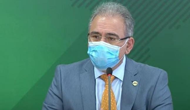 Ministro da Saúde, Marcelo Queiroga, concede entrevista coletiva para atualizar temas discutidos pelo Comitê de Enfrentamento da covid-19
