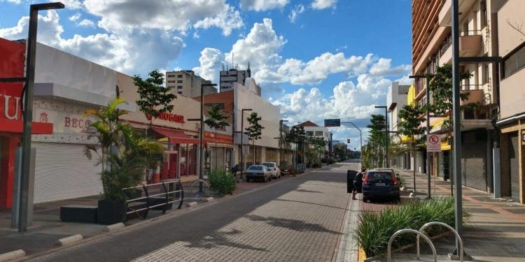 Rua 14 de Julho, em Campo Grande (MS) — Foto: Huanderson Merlotti