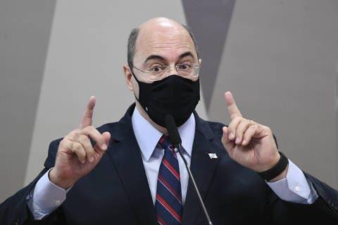 """""""Pode ficar tranquilo que eu não sou porteiro. Não vai me intimar, não"""", disse o ex-governador"""